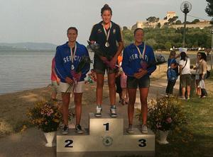 Podio Campionato Italiano Assoluto 2010 5km cronometro